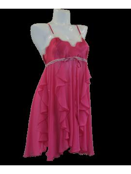 Jane Woolrich Pink Ruffles Nightdress 48610