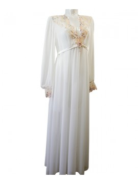 Jane Woolrich Orchid Sun Long Negligee