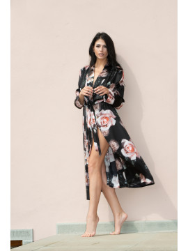 Clara Rossi Rose Silk Robe