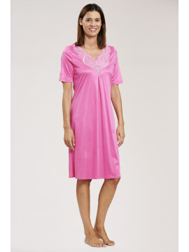 Louis Feraud Pink Couture Short Sleeved Nightdress
