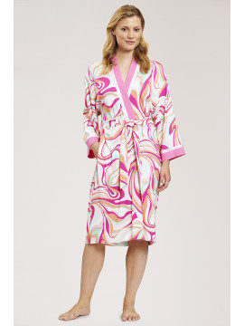 Louis Feraud Pink Couture Robe
