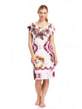 Louis Feraud Hot Hibiscus Dress