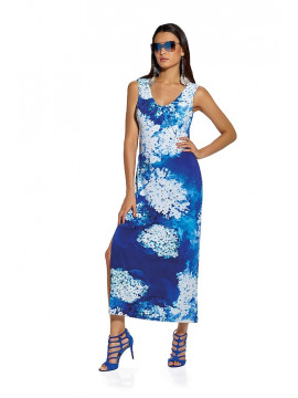 Roidal Blue Flower Dress